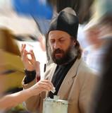 orthodox monk gathering donation poster