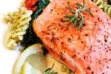 atlantic salmon and pasta salad poster