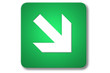 piktogramm flughafen: right and down arrow