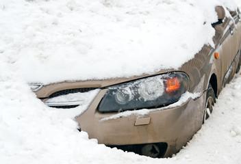 car  in a snow
