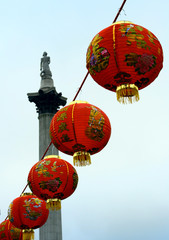 chinese lanterns and nelson's column