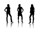 Fototapety people fashion black silhouettes