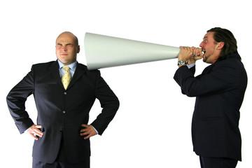 mega communication yelling