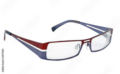 modern glasses on white