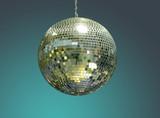 shiny disco ball poster