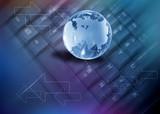 world wide web, globe on a keyboard poster