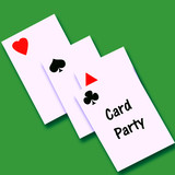 card party invitation poster