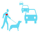 dog walking safety poster