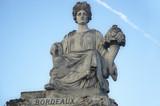 statue representing bordeaux, place de la concorde poster