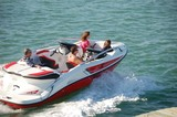 outboard motor boat poster