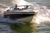 motor boat on biscayne bay poster