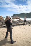 model shoot at the heads beach in knysna poster