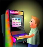 arcade boy poster