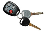car keys with keyless entry poster