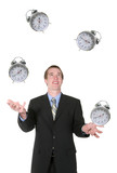 business man juggling his time poster