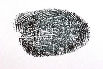 finger print on white paper