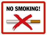 no smoking area poster