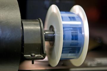 microfilm on reader spool