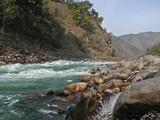 river ganges in india poster