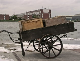 ancient handcart