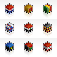 flag icons set - design elements 56x
