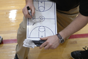 coach designing play