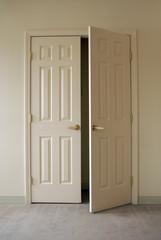 opening closet doors