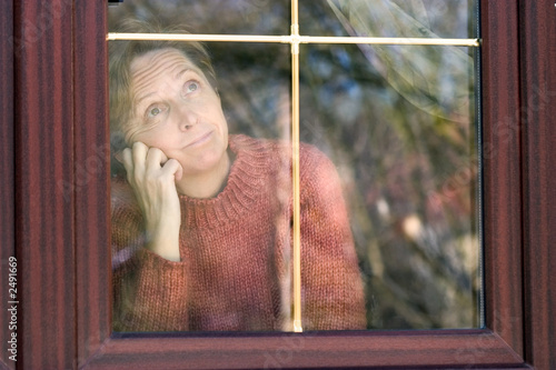 looking through window