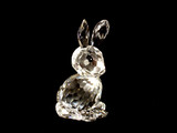 glass rabbit in the dark