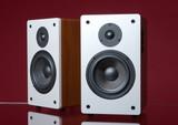 audio speakers poster