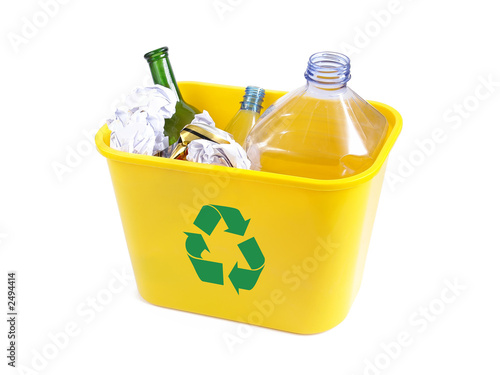 yellow disposal bin