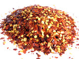 crushed red chilli pepper. poster