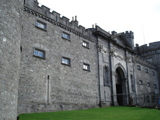 outer wall and mote, kilkenny castle