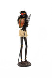 figurine of the woman-soldier with a spear poster
