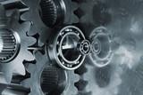 gear-mechanism in duplex color poster