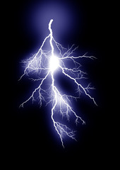 lightning _isolated_blue