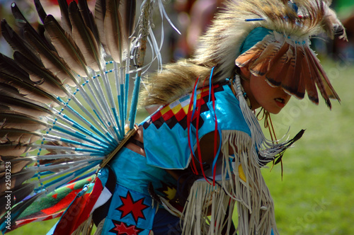 boy dancer with feathers - 2503253