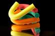 Leinwandbild Motiv abstrakt - farbenfrohe knetmasse