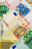 euro currency collage poster