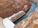 the hoover dam in arizona poster