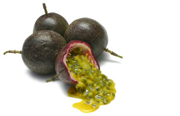 passionfruits with pulp