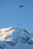 helicopter hoist peak poster