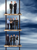 corporate ladder - business team work poster