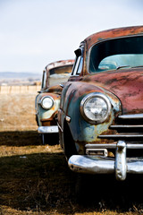 vintage cars vertical version