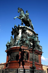 st.-petersburg.   monument to nikolay 1