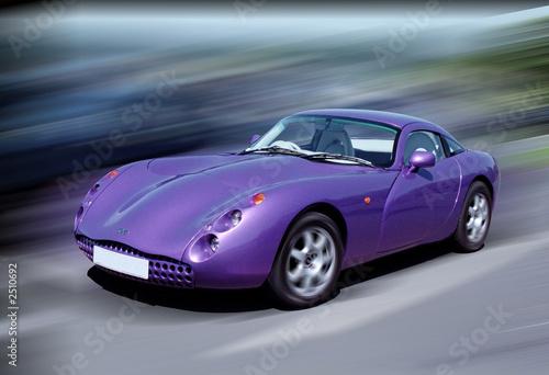 Foto op Canvas Snelle auto s purple sports car