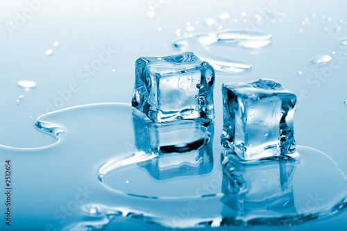 Canvas Water blue ice cubes