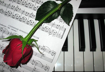 rose piano music