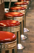 Quadro red diner stools