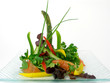 salad of raw vegetables and asparagus 3